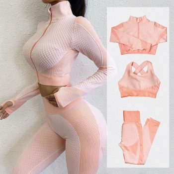 Fitness Suits Yoga Women Outfits 3pcs